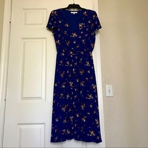 Maxi dress with cinched waist